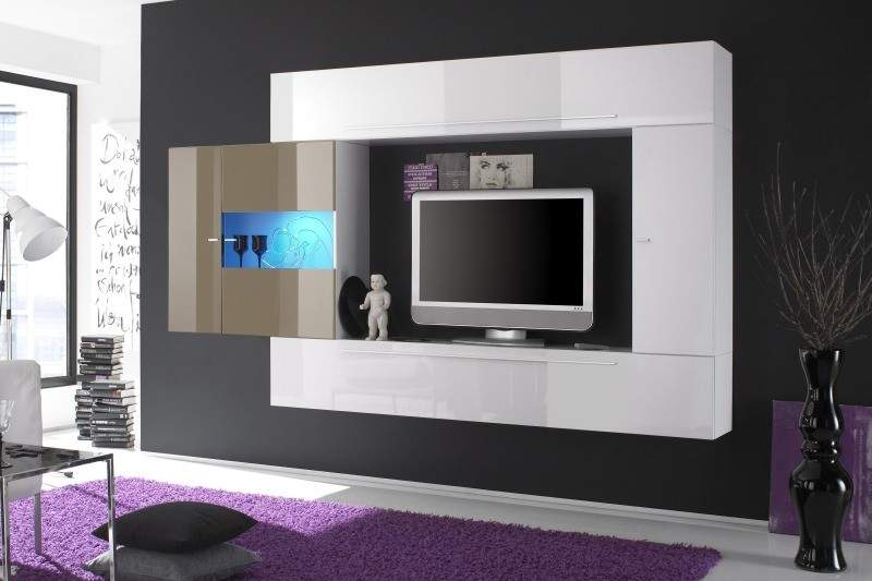 Meuble Tv Blanc Satine : Meuble Tv Design Oltredomodeco-design