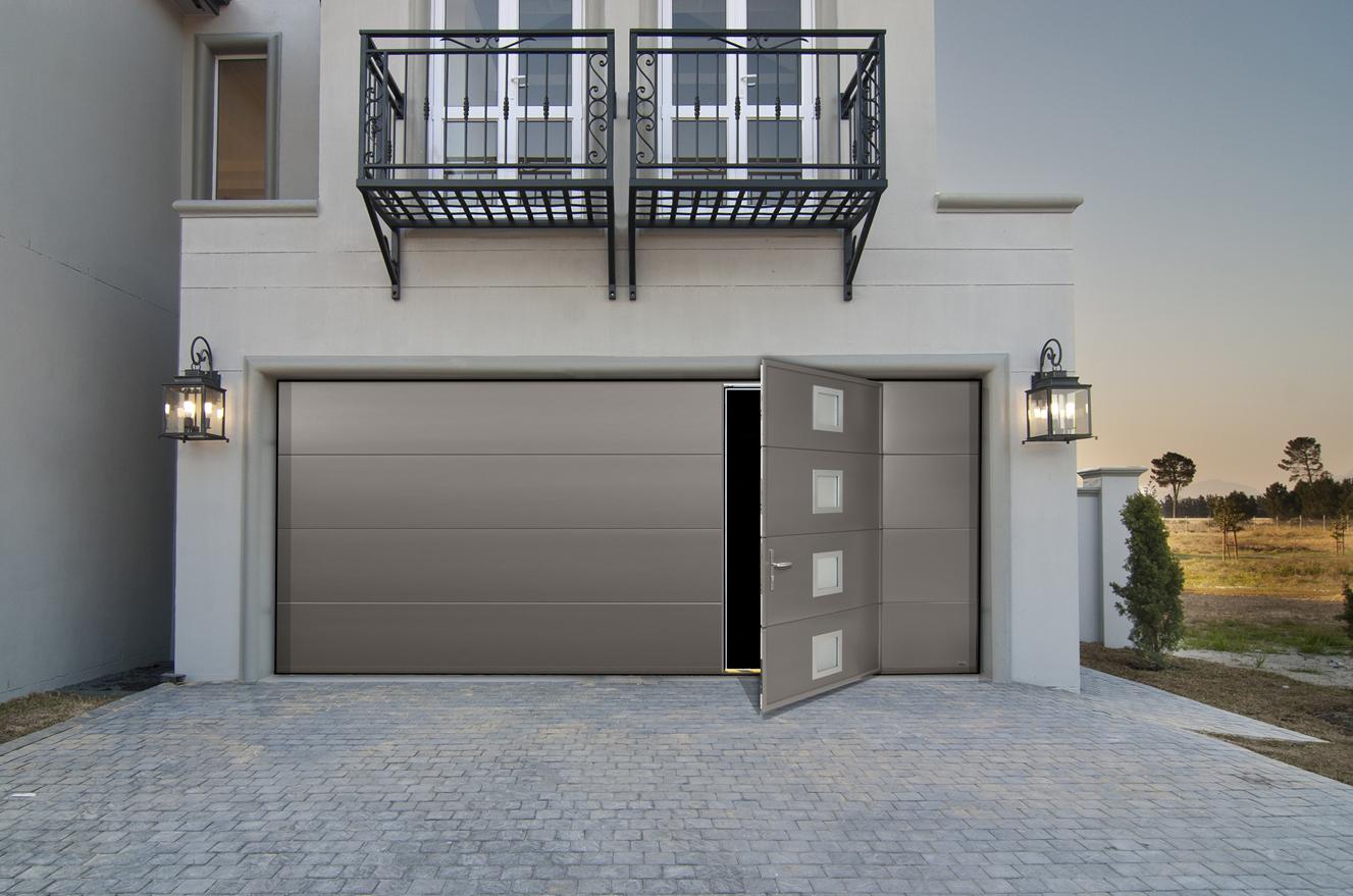 Porte de garage motoris e france fermetures jo yana - Portes de garage sectionnelles motorisees ...