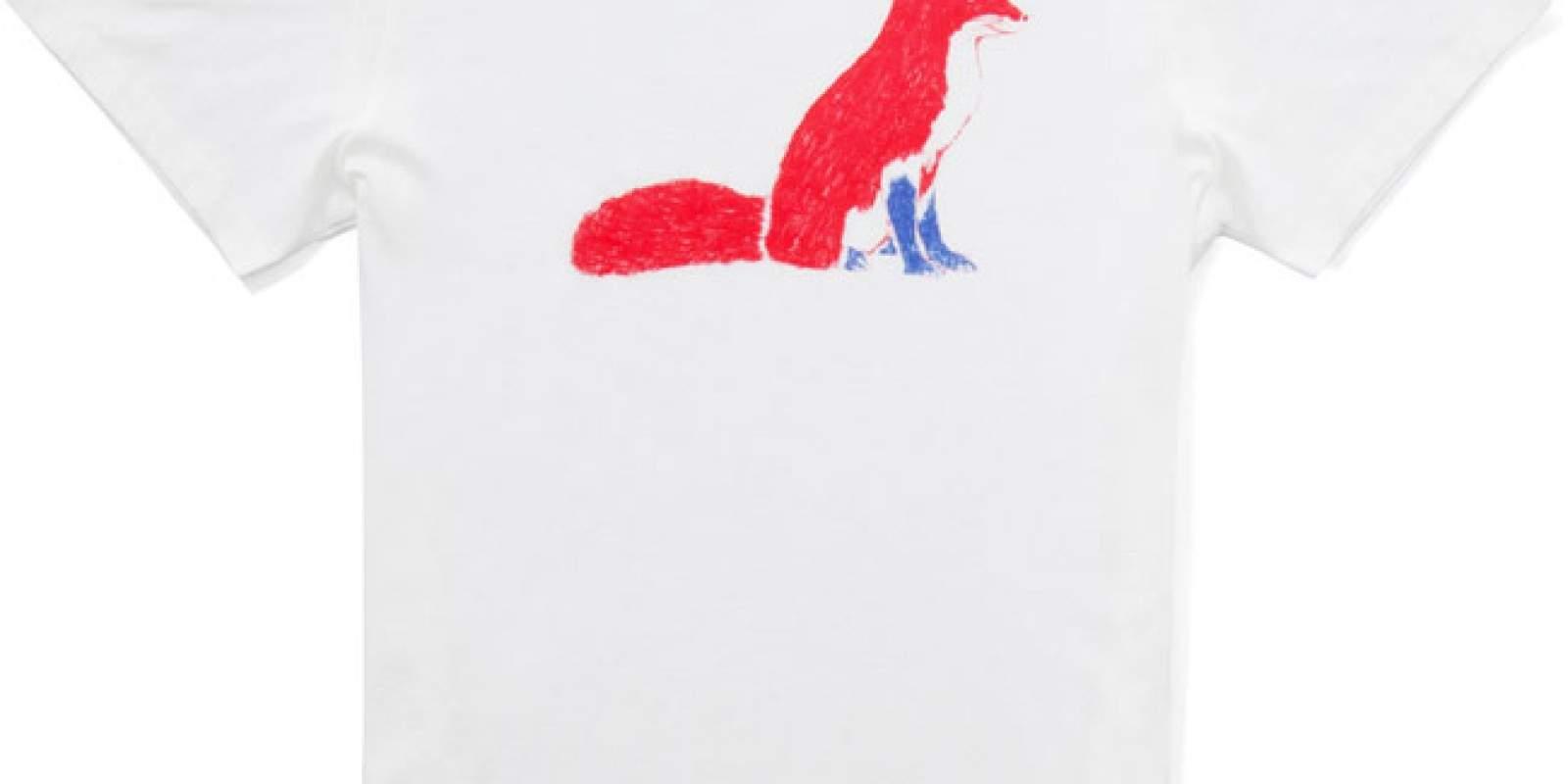 White Fox Tee par KITSUNE x Carine BRANCOWITZ