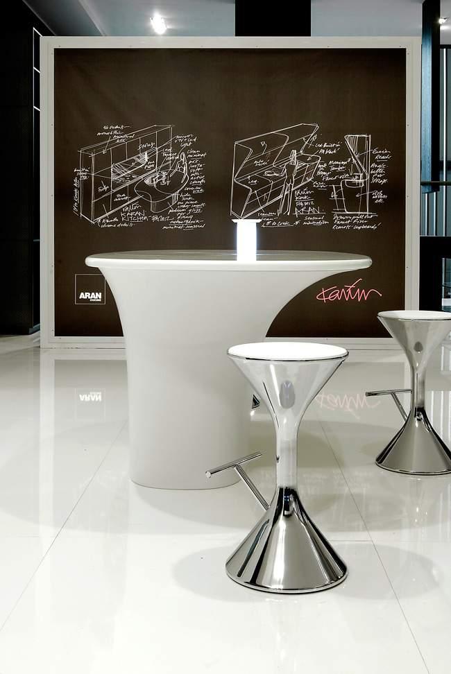 cuisine design aran cucine x hi macs x karim rashid jo yana. Black Bedroom Furniture Sets. Home Design Ideas