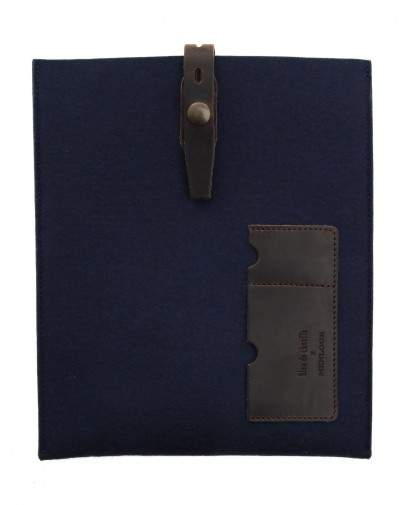 MENLOOK LABEL housse-ipad-bleue-en-feutre-miky-edition-limitee