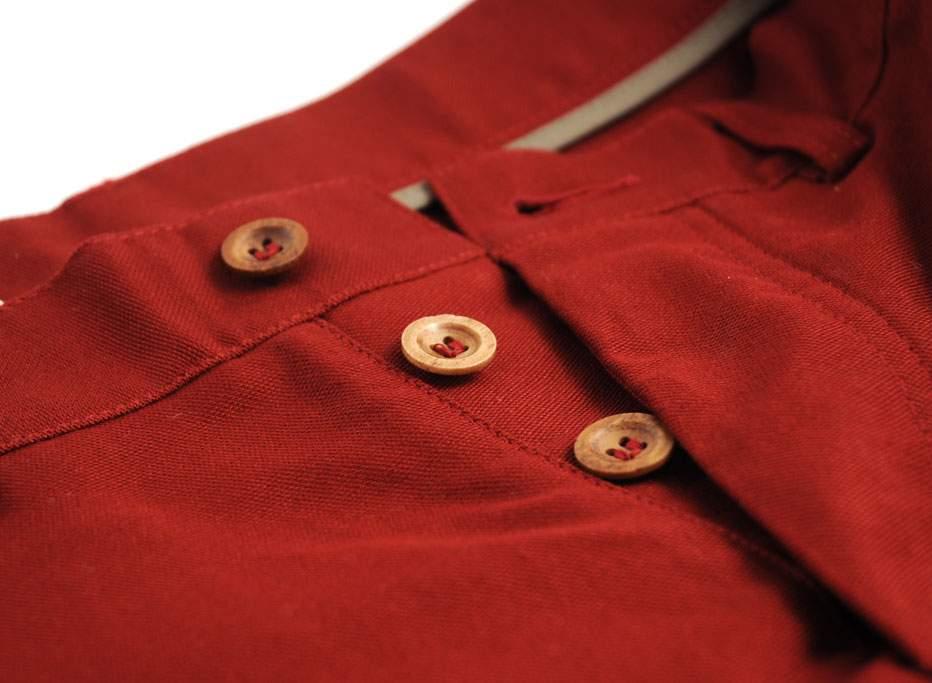 BLEU DE PANAME Pantalon Civile Rouge