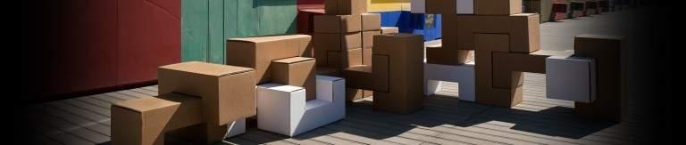 Mobilier en carton MODULES par LN BOUL