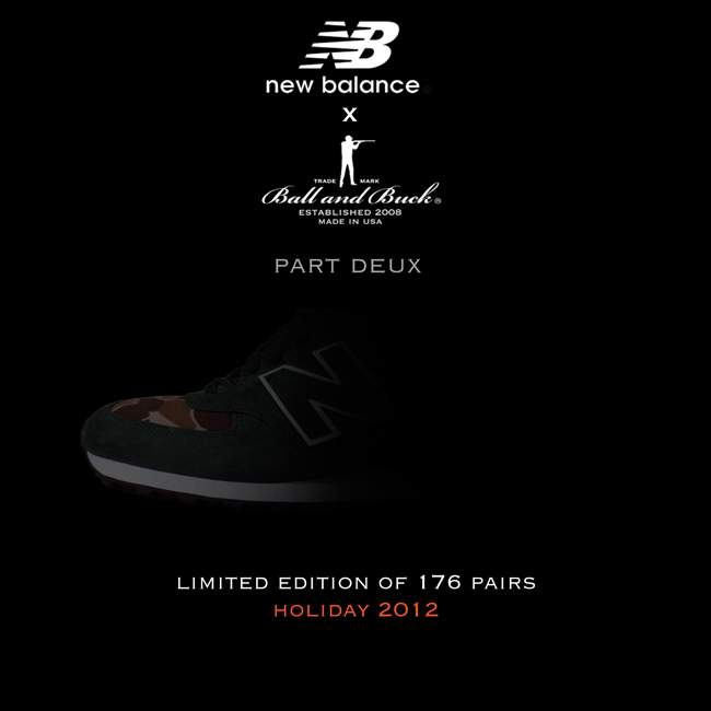 NEW BALANCE x BALL AND BUCK – Part Deux