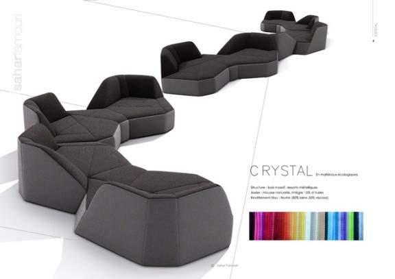 canap design crystal par sahar famouri jo yana. Black Bedroom Furniture Sets. Home Design Ideas