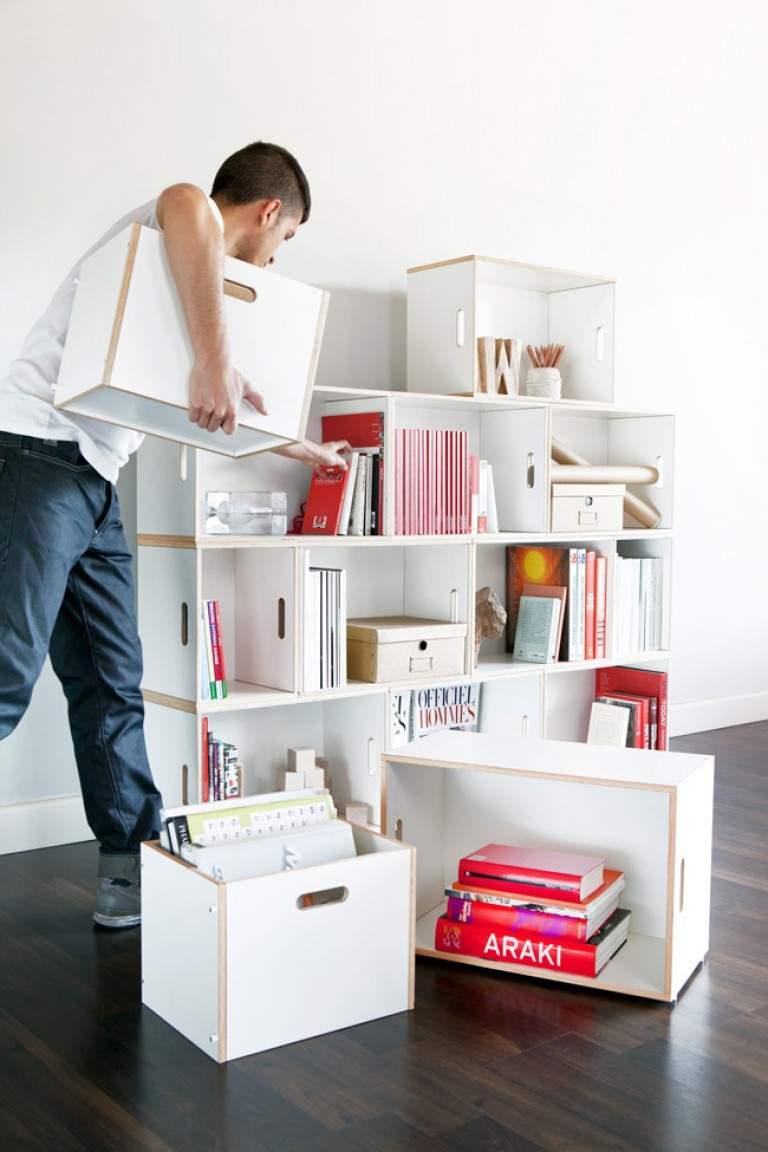Bibliothà¨que Evolutive BRICKBOX par Antxon SALVADOR