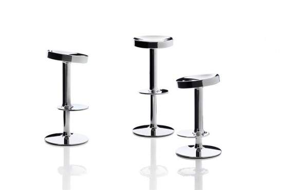 Tabouret de bar s s s s sweet stainless steel stool by - Tabouret haut starck ...