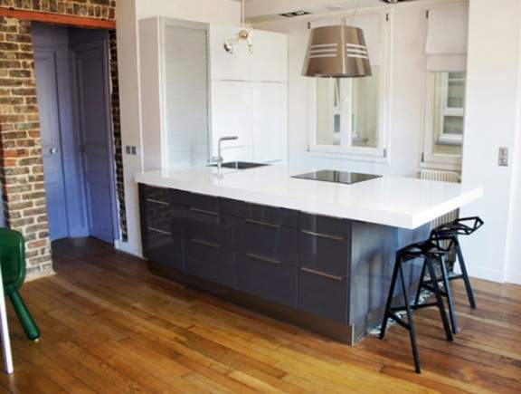 appartement parisien r nov par tony lem le. Black Bedroom Furniture Sets. Home Design Ideas
