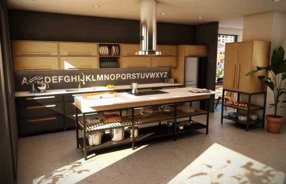 Mobilier de cuisine design bois hauteur d 39 homme jo yana Cuisine design bois
