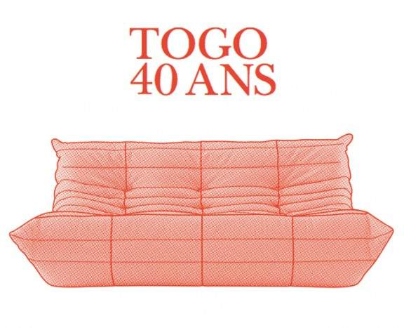Ligne roset c l bre les 40 ans du togo jo yana - Canape togo ligne roset ...