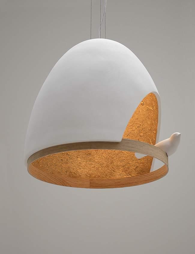 lampe oiseau par olivier chabaud x jean fran ois bellemere x compagnie deco design blog. Black Bedroom Furniture Sets. Home Design Ideas