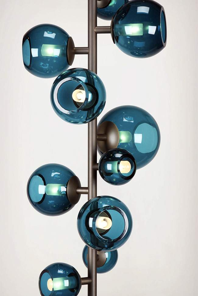Luminaires LAST NIGHT Totem & Branche par Damien LANGLOIS-MEURINNE