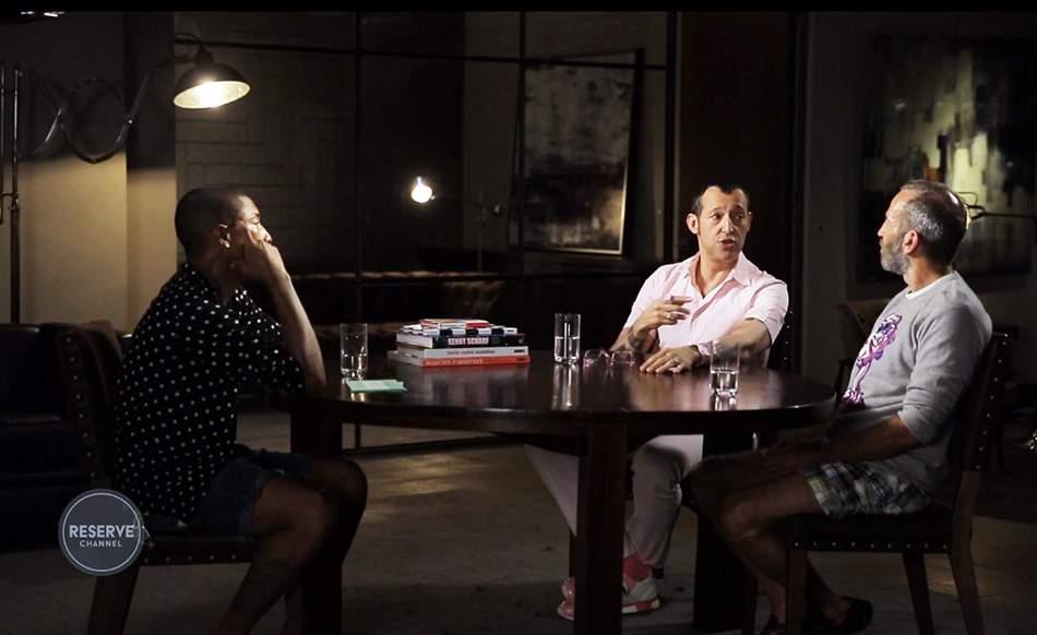 Pharrell WILLIAMS Interviewe Karim RASHID & Kenny SCHARF