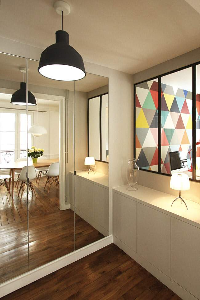 Un appartement haussmannien de 85m2 par camille hermand architectures deco - Appartement haussmannien paris ...