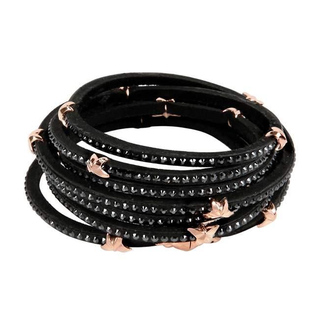 Bracelet Tomasz Donocik Swarovski 7 Wrap Around Stars Jo Yana. Homme Bracelets Swarovski Bracelet Cuir