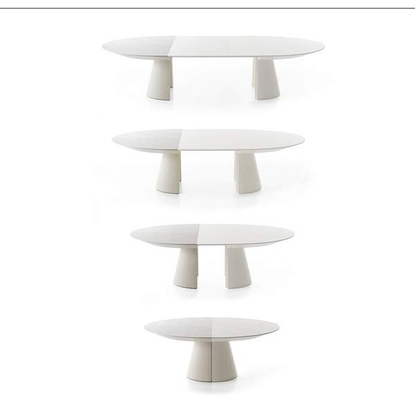 Table extensible adagio bauline milan design week 2014 jo yana - Table ovale extensible design ...