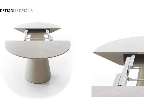 Table ovale rallonge design for Table a manger a rallonge design