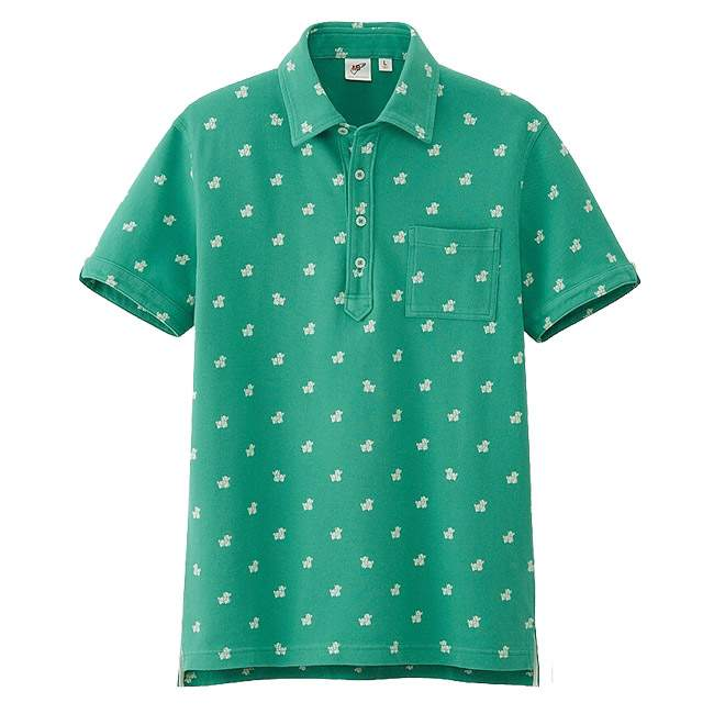 Polo Washed Short Sleeve Green UNIQLO x Michael BASTIAN