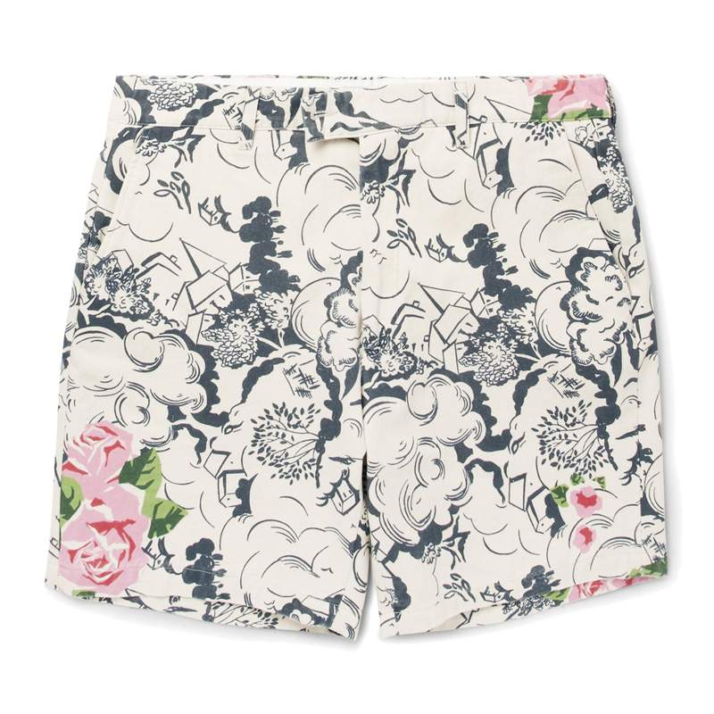 Short HENTSCH MAN x MR PORTER regular-fit printed cotton-canvas