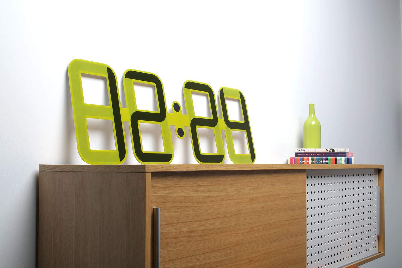 Horloge design clockone twelve24 deco design - Horloge a poser design ...