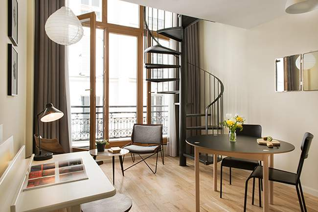R sidence le victor appart h tel paris deco design for Appart hotel paris 17eme