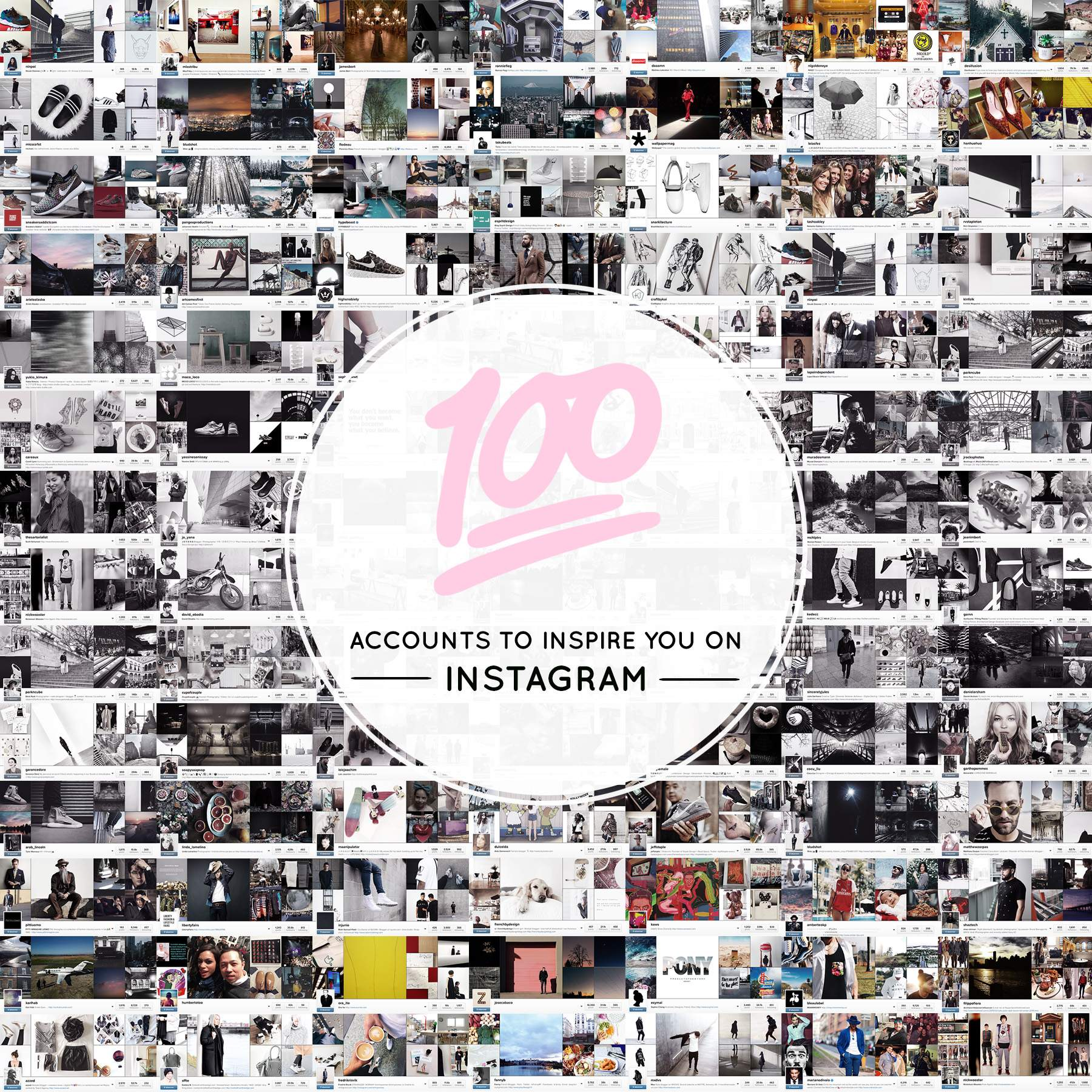 100 ACCOUNTS TO INSPIRE YOU ON INSTAGRAM
