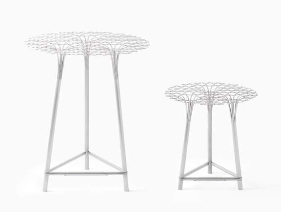 bamboo-steel table HAN GALLERY par NENDO